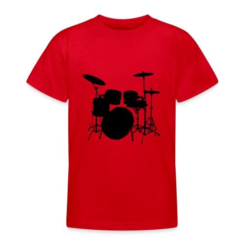 Bateria negro drums - Camiseta adolescente