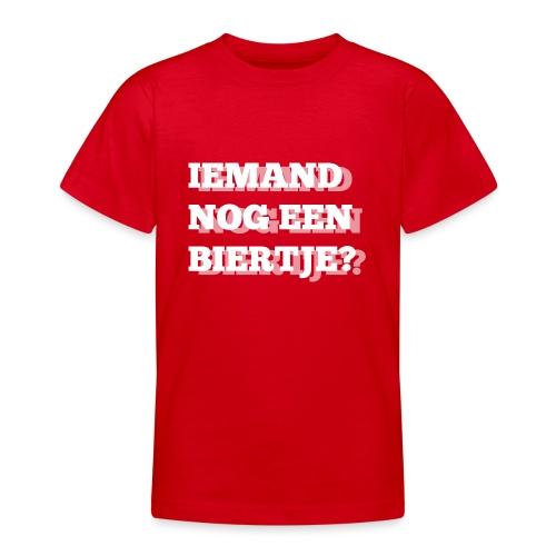Iemand nog een biertje?? Dubbel kijken print - Teenager T-shirt