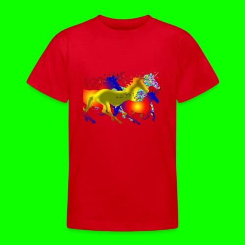 unicorn horses - T-shirt tonåring