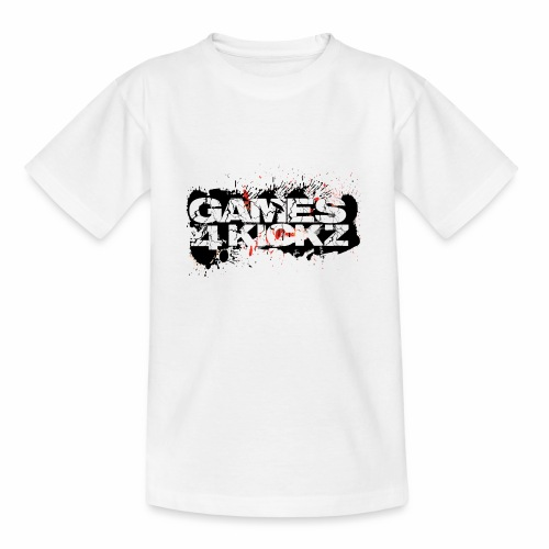 Games4Kickz Logo Splattered Background - Teenage T-Shirt