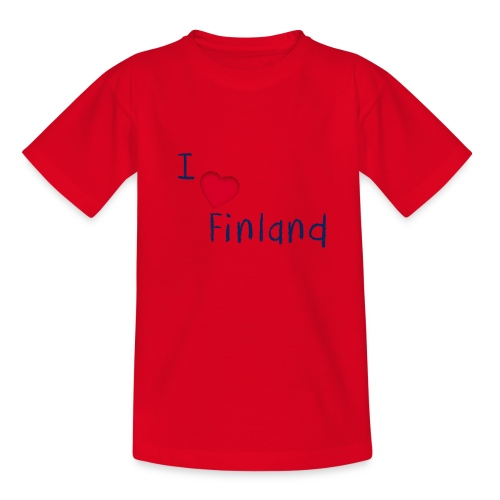I Love Finland - Nuorten t-paita
