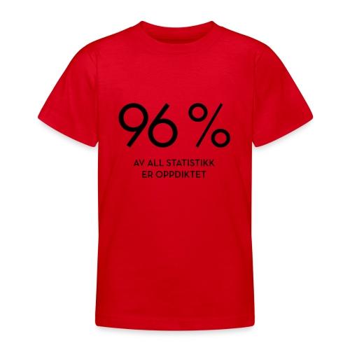 Statistikk-sprøyt (fra Det norske plagg) - T-skjorte for tenåringer