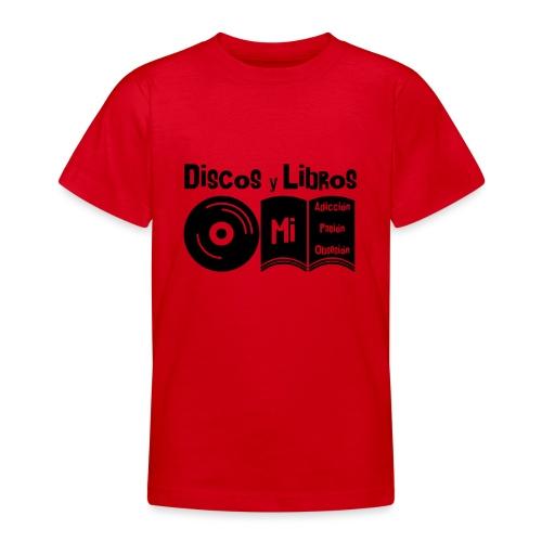 Discos y Libros - Camiseta adolescente