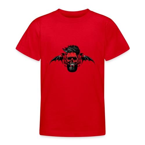 tete de mort hipster dragon tribal skull barbu mou - T-shirt Ado