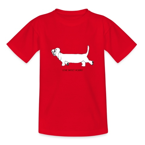 Love basset hounds - Teenager-T-shirt