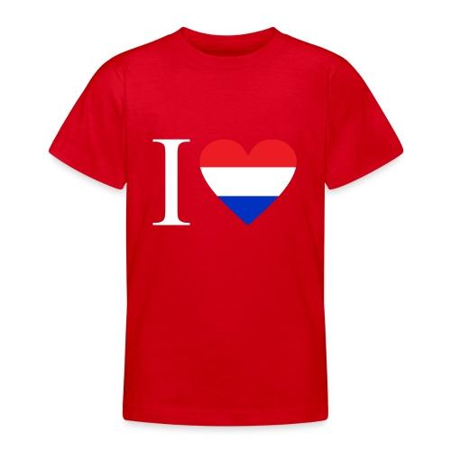 Ik hou van Nederland | Hart met rood wit blauw - Teenager T-shirt