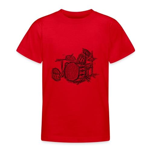 Batería a lapiz - Camiseta adolescente