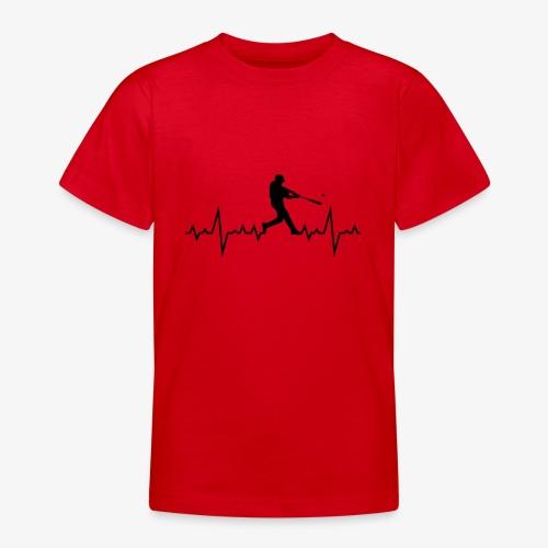 Haert line Baseball - T-shirt Ado