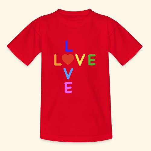 Rainbow Love. Regenbogen Liebe - Teenager T-Shirt