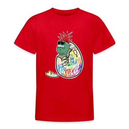 Punk Graffiti Bebe Schildkröte / Baby Dino Turtle - Teenager T-Shirt