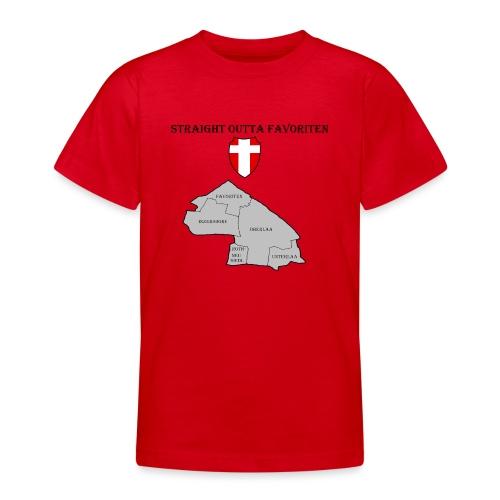 straight outta favoriten wien - Teenager T-Shirt
