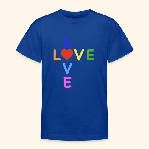 Rainbow Love. Regenbogen Liebe - Teenager T-Shirt