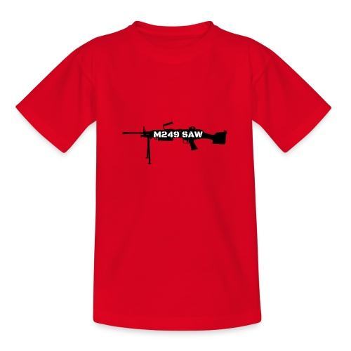 M249 SAW light machinegun design - Teenager T-shirt