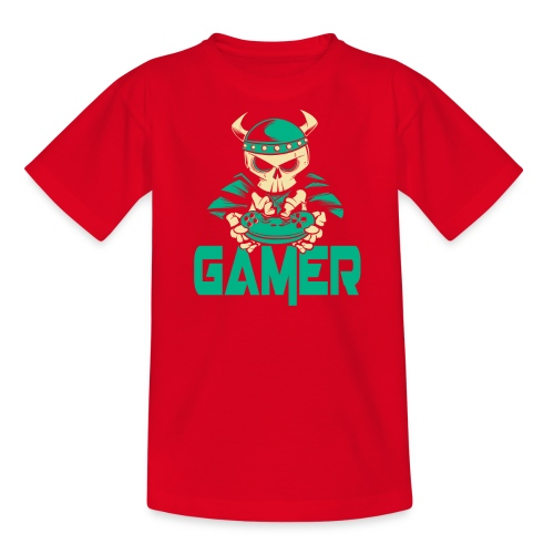 gamer skelett wikinger - Teenager T-Shirt