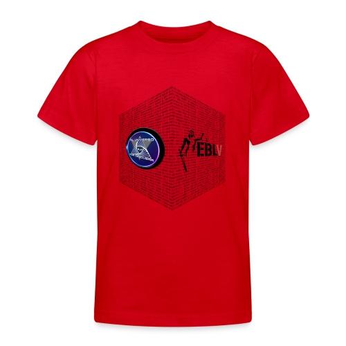 disen o dos canales cubo binario logos delante - Teenage T-Shirt