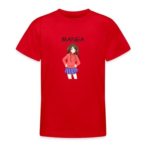 Anime girl 02 Text Manga - Teenager T-Shirt