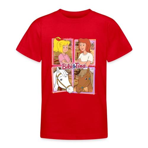 Bibi und Tina mit Amadeus und Sabrina - Teenager T-Shirt