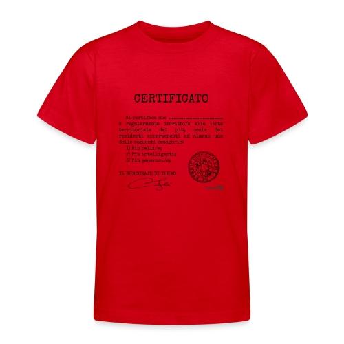 1.07 Certificato Piu Generico (Aggiungi nome) - Maglietta per ragazzi