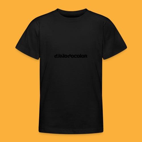 DJATODOCOLOR LOGO NEGRO - Camiseta adolescente