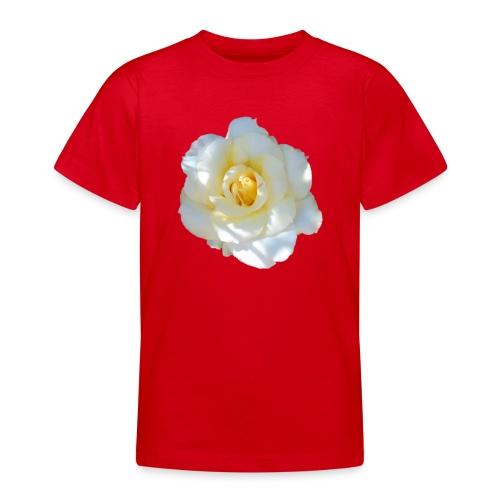 A white rose - Teenage T-Shirt