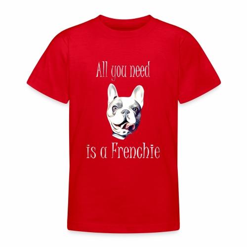 Französische Bulldogge T-Shirt Frenchie - Teenager T-Shirt