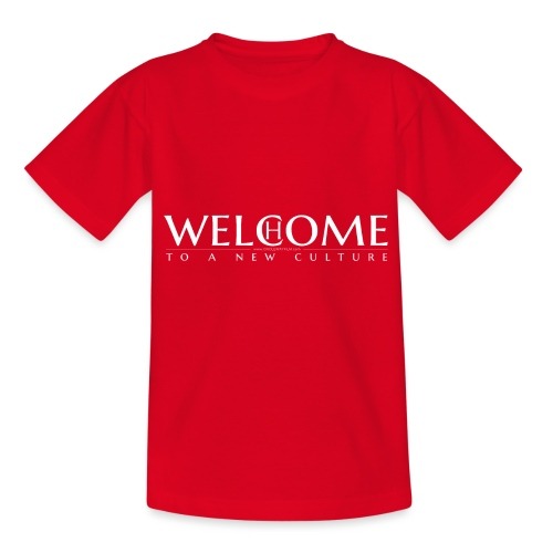 welcome home to a new culture w - Teenager T-Shirt
