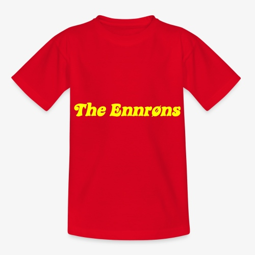 TheEnnrons yellow text - Teenager T-shirt
