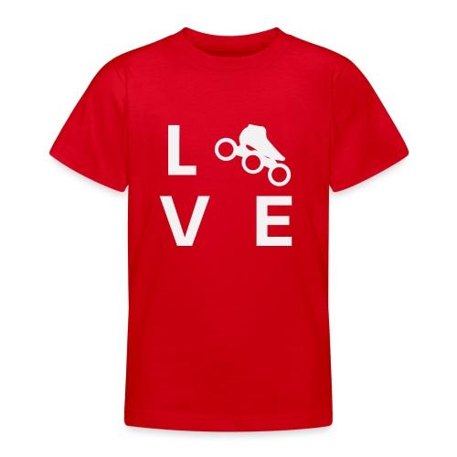 Speedskating Liebe - Teenager T-Shirt