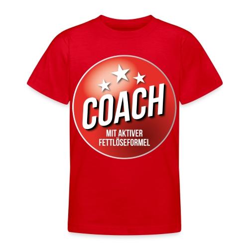 Fußball Coach Trainer Fett weg Soccer - Teenager T-Shirt