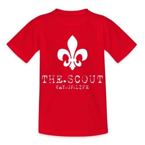THE.SCOUT.WAY.OF.LIFE Typewriter mit Lilie Weiß - Teenager T-Shirt