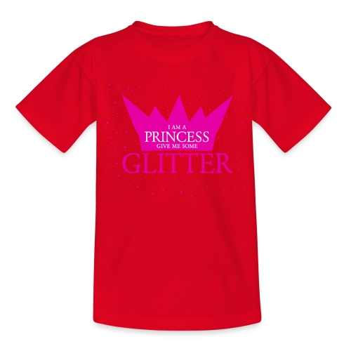 Glitzer für die Prinzessin - Teenager T-Shirt