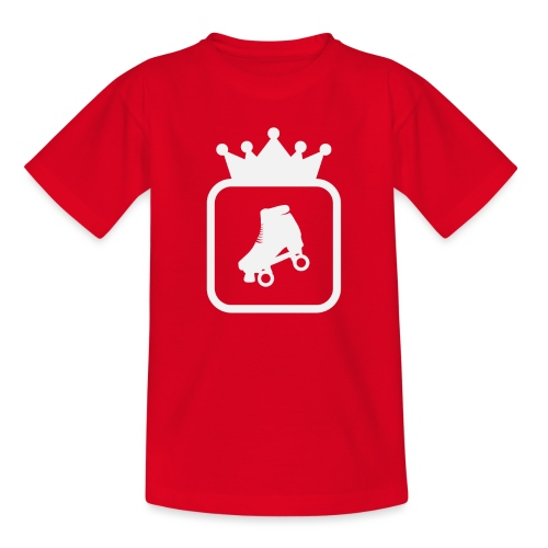 Speedskater Skating Krone - Teenager T-Shirt