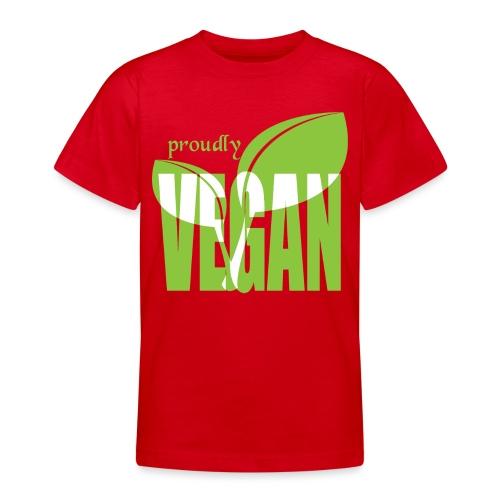 proudly vegan - Teenager T-Shirt