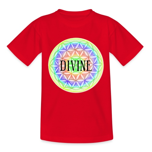 Mandala Blume des Lebens Divine, bunt - Teenager T-Shirt