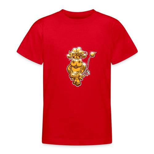 Goldene Gangster Kuh / Gold Thug Cow - Teenager T-Shirt