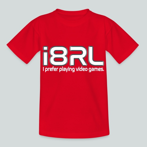 i8RL - I prefer playing video games. - T-shirt Ado