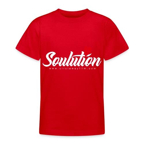 Soulution Logo – weiß - Teenager T-Shirt
