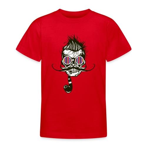 tete de mort hipster pipe crane skull coiffure pun - T-shirt Ado