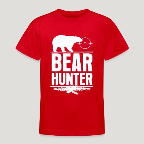 Jäger Shirt Bären Jäger - Bear Hunter Jagd Wild - Teenager T-Shirt