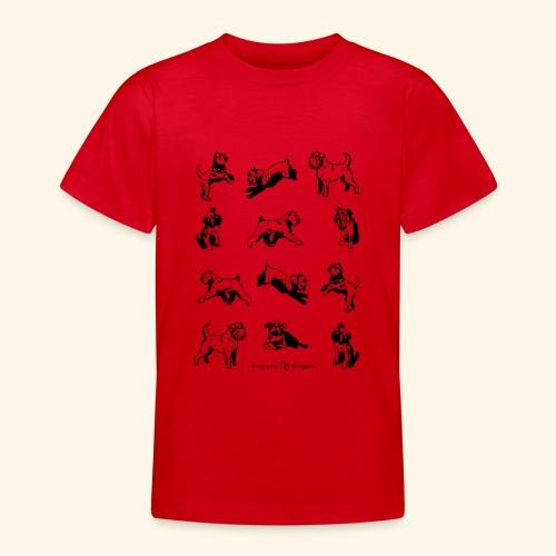 Brussels Griffon pattern - T-shirt Ado