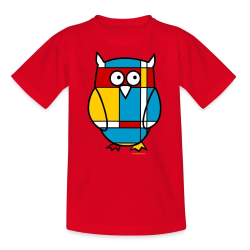 Mondrian Owl - Teenage T-Shirt