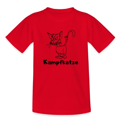 Kampfkatze - Teenager T-Shirt