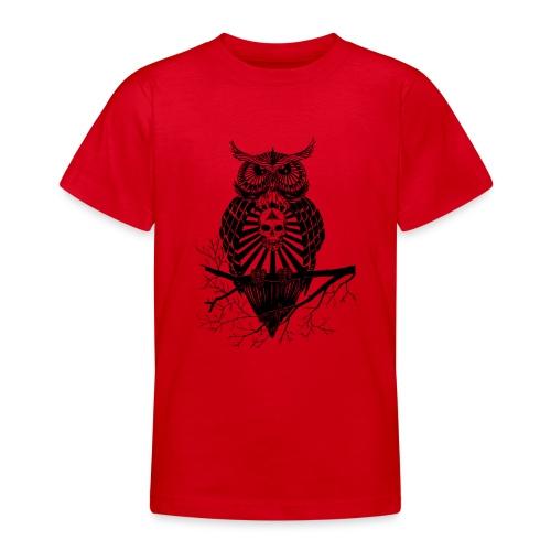 Hibou Psychédélique - T-shirt Ado
