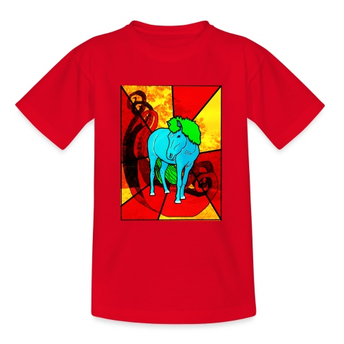Blå Hest, Blue Horse - Teenager-T-shirt