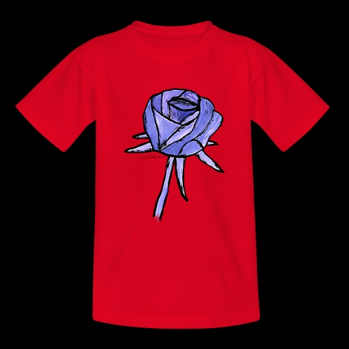 Rose blau sixnineline style - Teenager T-Shirt