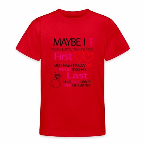 Ich liebe meinen Mann - Geschenkidee - Teenage T-Shirt