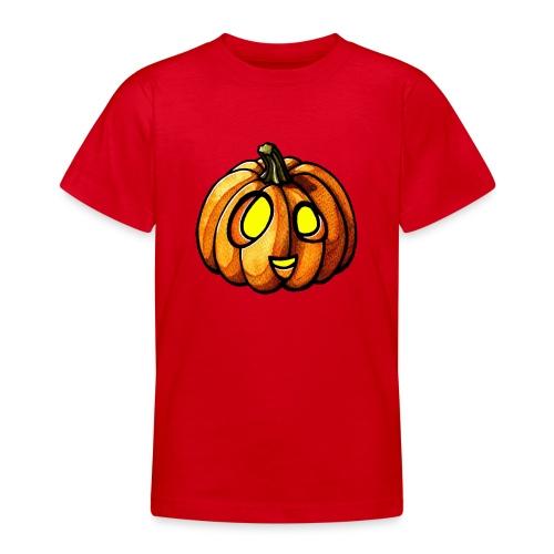 Pumpkin Halloween watercolor scribblesirii - Teenager T-Shirt