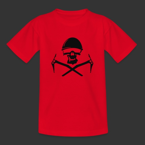 Climbing Skull - Teenager T-Shirt