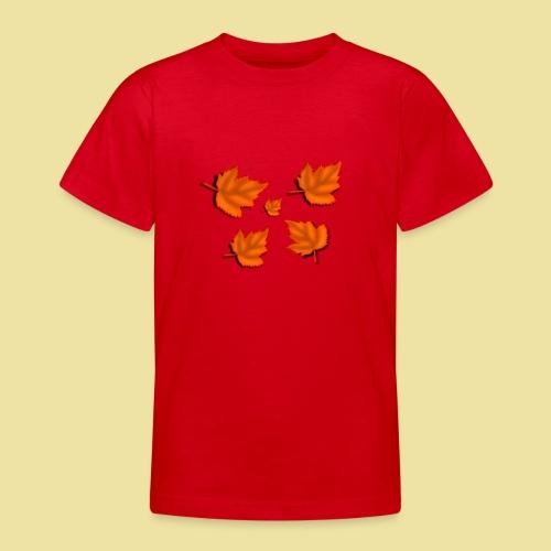 Herbstblätter - Teenager T-Shirt