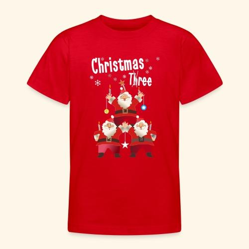 Christmas Three Weihnacht Baum drei - Teenager T-Shirt